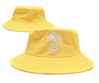 أزياء جلدية دلو قبعة لرجل إمرأة الصيد طوي قبعات الأسود الصياد شاطئ الشمس قناع بيع للطي رجل الرامي كاب
