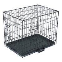 "24 ""PET Kennel Cat Dog Folding Steel Crate Animal PlayPen Wire Metal"