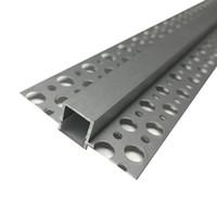 T 채널 프로파일 임베디드 LED 알루미늄 프로파일, 9mm PCB 스트립 테이프 빛 평평한 가장자리 보이지 않는 선형 채널