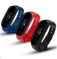 M3 Smart Watch Armband-Band-Fitness Tracker Nachrichten Erinnerung Farbe Schirm-wasserdichtes Sport-Armband für Männer Frauen