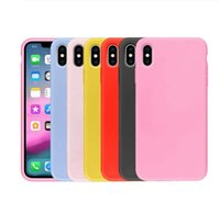 Cas de TPU de silicone de couleur bonbon mat pour Samsung Galaxy S9 S8 J3 J4 J5 J6 J8 A3 A5 A6 A7 A8 A9 2017 Plus 2018 A750 Couverture Capa