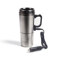Tragbare Silber-Edelstahl-Auto-Wasser-Heizung Kaffee für Thermos Typen Heißes Getränk Wasser-Heizung 12V Mini Auto Wasserkocher