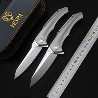 VESPA Messer Tasche Klappmesser Hochwertiges S35VN Stahlklinge TC4 Griff Überlebensmesser Camping EDC Werkzeuge Weihnachtsgeschenk für Männer Jagdmesser
