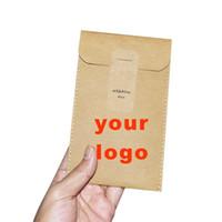صديقة للبيئة استعرض LOGO تخصيص قابل للغسل كرافت كيس كيس تخزين الورق ملف ظرف محفظة أكياس المهملات هدية