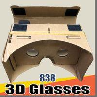 838 DHL Óculos 3D VR Óculos DIY DIY Google Cardboard Celular Realidade Virtual Cartão Não Oficial Toolbook Toolkit Óculos 3D CCA1785 B-XY