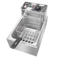 Waco 2500W 6L fritadeira elétrica, cozinha profissional Bakeware TablOp restaurante fritar máquina com cesta