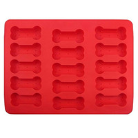 Stampi in silicone Padelle in silicone antiaderenti Modello di ossa Stampo da forno Jello Cookie Chocolate Candy Ice Cake Pastry Bread Mold