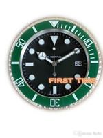 ديكور المنزل ساعة الحائط التصميم الحديث جودة عالية العلامة التجارية الجديدة الفولاذ المقاوم للصدأ مضيئة الوجه التقاويم FT-UB004