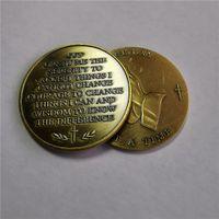 Бронзовый античный материал Challenge Coin ~ один день за один раз бесплатная доставка 20 шт. / Лот