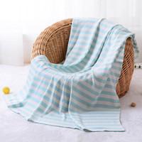 아기 아이 성인 대나무 섬유 수건 담요 6 사이즈 여름 쿨 이불 침대 소파 편안한 에어컨 스레드 담요