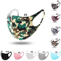 Camo Ice Silk Mask 10 Colors Adults Anti Dust Face Mouth Cov...