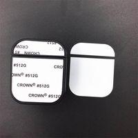 Caso em branco para AirPods 5 cores disponíveis para 2D Sublimation Printing com folha de alumínio DIY Design Personalizado para iPhone 7 8 X