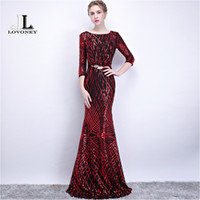 wholesale Sexy Open Back Mermaid Sequin Long Evening Dress P...