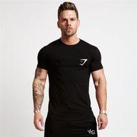100% pamuk spor kazak trendi baskı köpekbalığı desen erkek gömlek büyük boy pamuk rahat eğilim erkek t-shirt MC135