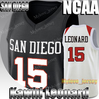 NCAA San Diego State Aztecs Kawhi Trikots Leonard Russell 0 Westbrook LeBron James 23 Jersey Kevin Durant 35 College Basketball Jersey