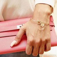 Europa und die Vereinigten Staaten geknoteten Armbänder Persönlichkeit Wild Dreifarbig 26 Buchstaben freie Kombination Armband Großhandel Knoten Bangle Rose