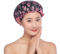 Adult Double Thick Waterproof Shower Cap Kitchen Makeup Bath...