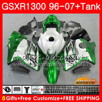 鈴木GSXR 1300 1996 2002 2003 2004 2004 2006 2007年2400 2400年2400年3600 Hayabusa Silvery Green GSXR1300 96 02 04 04 04 05 06 06 06 07 07 07