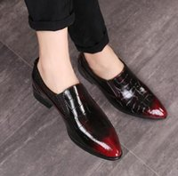 2019 New Genuine Patent Leather Men' s Bussines Dress Sh...