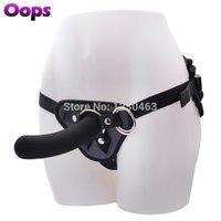 NO vibratório Strap On Dildo Harness ajustável Falso Penis Masturbação Dildos com Ventosa Butt Plug Lésbicas Adult Sex Toys MX191228