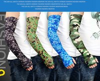 Camo Arm Sleeves Cycling Camouflage Anti- UV Protective Elast...