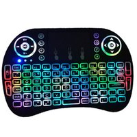 MINI i8 2. 4GHz 3- color Backlight Air Mouse Wireless Keyboard...