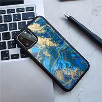 caso mármore por Coque iPhone 6 6s 7 8 Plus X XR caso Telefone XS Max silicone suave TPU + PC Capa para iPhone X