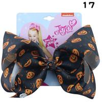 Nuovo Halloween 8inch Jojo Siwa Bows Girls Capelli Clips Pumpkin Jojo Siwa Bambini Barrettes Cartoon Capelli Bows Baby BB Clip Accessori per capelli A7966