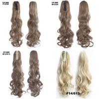 Bouclés Snythetic cheveux bouclés Ponytail Big postiches Blonds 22inch cheveux Ponytail queue de cheval Extensions de cheveux