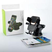 Tenedor de teléfono de alta calidad 360 grados Easy One Touch Universal Smartphone Soporte de montaje de automóvil Soporte de succión de montaje de teléfono ajustable
