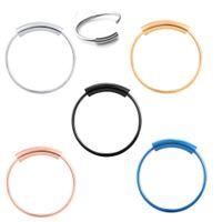 Anello di setto, anelli di cerchio continuo senza cuciture in acciaio 316L, piercing all'orecchio con labbro 6 colori 22 gauge 0,6 mm 6 / 810mm 100 pezzi