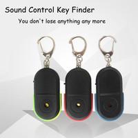 Neue Ankunft Wireless 10 mt Anti-verlorene Alarm Key Finder Locator Keychain Pfeife Sound Control LED Licht Mini Anti Verloren Key Finder