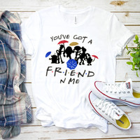T- shirts Female Streetwear Friends Theme Print Kroean Tops V...