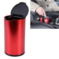Tragbare Auto-Aschenbecher Auto Edelstahl Abfalleimer Mülleimer Aschenbecher für die meisten Auto Becherhalter