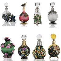 Antiqued Style Colorful Lampwork Glass Empty Perfume Contain...