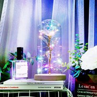 Siempre encantada Decoración de Navidad Día de la flor de Rose en el vidrio de LED Luz de San Valentín