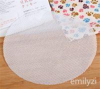 Weiße runde Dumplings Mat Dampfer Papier Silikon-Dampfer Non Stick Pads Brötchen Backen Gebäck Dim Sum Netzmatte Zubehör Koch