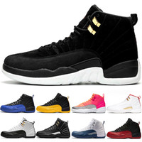 Air Jordon Retros 12 Männer Basketball-Schuhe 12s Hot Punch-Reverse-Taxi Universität Gold Game Royal Black Herren-Trainer-Sport-Turnschuh