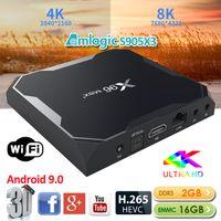 X96 Max Artı Akıllı TV Kutusu Android 9.0 S905X3 2 GB 16 GB 2.4G WiFi 8 K HD Set üst Kutusu Media Player