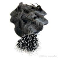 0,8 г/s200s/много 8А класс объемная волна nano кольцо Девы волос естественный цвет nano кольцо наращивание волос для женщин, бесплатная доставка