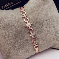 Простой дизайн Super Flash Zircon Stars High-End Bracete ювелирные изделия темперамент сексуальные дамы изысканный браслет 18K позолоченный роскошный браслет