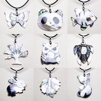 İnci Seashell Noel Mücevher Hediyelik Shell Çizimin Doğal Abalone Shell kolye Kolyeler İçin Kadınlar Hayvan Anne