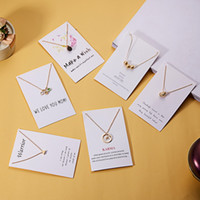 Wish Card Collares collares para las mujeres Mamá Pearl Charm Collar Joyería de moda Día de la Madre Día de la Madre Mensaje de Mensaje Cojines Accesorios