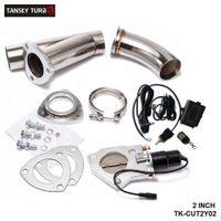 """Tansky - 2"""" Scarico elettrico Catback ritaglio / E-ritaglio W / Switch / Remote / Switch + Remote Cannette Cut out Valve System Kit"""