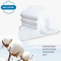 Pannolini per pannolini 10pcs riutilizzabili Baby 3 strati infantili Inserti in cotone in cotone Inserti lavabili in cotone