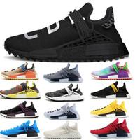2018 neue Pharrell Williams menschliche Rasse nmd Männer Frauen Sport-laufende Schuhe schwarz weiß grau NMDS primeknit PK Läufer XR1 R1 R2 Sneakers