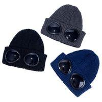 الطيار النظارات الصلبة قبعة الشتاء القبعات للرجال النساء السيدات أساور الجمجمة كاب محبوك الهيب هوب المتناثرة عارضة التزلج skullies في عيد الميلاد