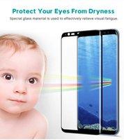 Verre incurvé de colle complet pour Samsung Galaxy S20 Ultra Note 8 9 10 S8 S8 S9 PLUS PROTORTEUR D'ÉCRAN VERRE TRENDUE POUR GALAXY S8 Plus