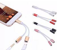 2 스마트 폰 7 / 8P XS 최대를 들어 1 충전기 및 오디오 이어폰 헤드폰 아이폰 타입 C 잭 어댑터 커넥터 케이블 3.5mm의 보조 헤드폰에서