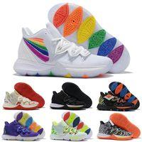 ايرفينغ 2019 kyrie تاكو بلاك ماجيك سكاي ستار مفاهيم الرجال أحذية كرة السلة chaussures 5 ثانية 5 الرجال rainbow الأسود الرياضة رياضية حجم لنا 7-12